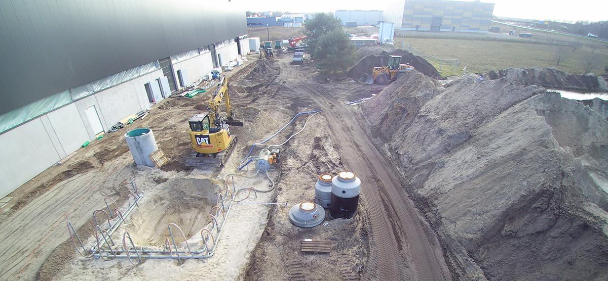Neubau von 3 Logistikhallen, Neustadt bei Dresden